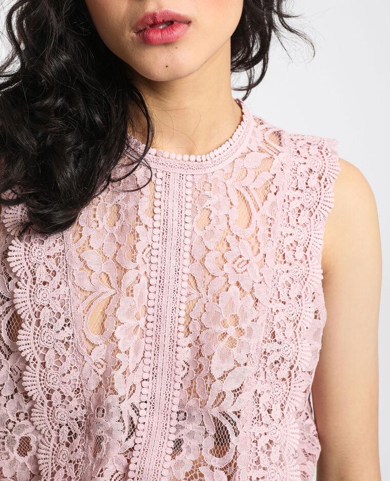 Camicia in pizzo rosa
