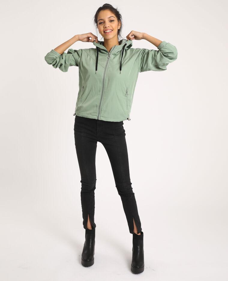 Giacca con cappuccio verdeg