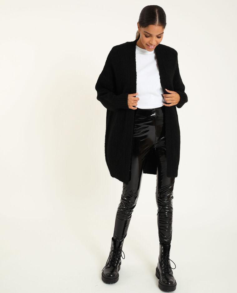 Cardigan ampio nero