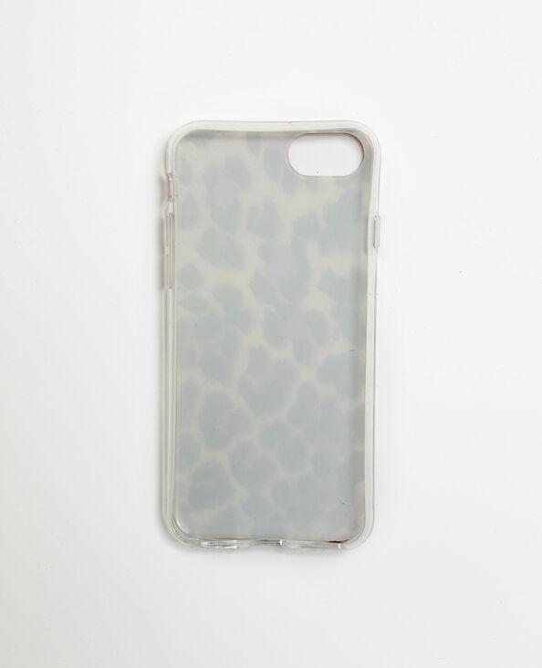 Custodia leopardata per iPhone 6/6S/7/8 bianco sporco