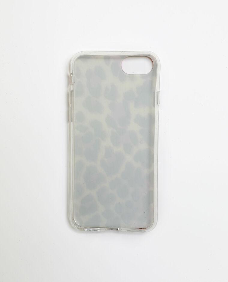 Custodia leopardata per iPhone 6/6S/7/8 bianco sporco - Pimkie