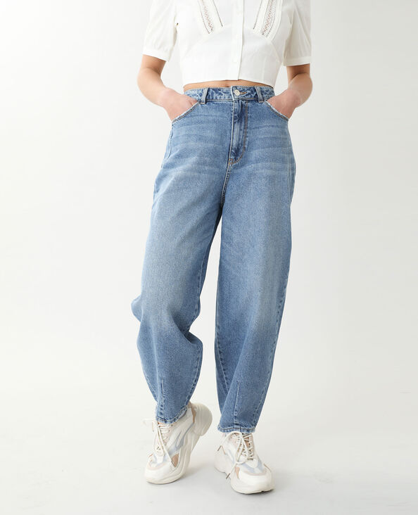 Jeans slouchy high waist blu denim - Pimkie
