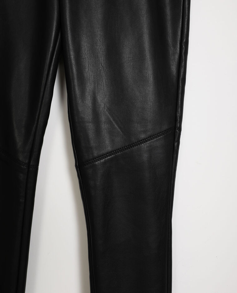 Leggings in similpelle nero