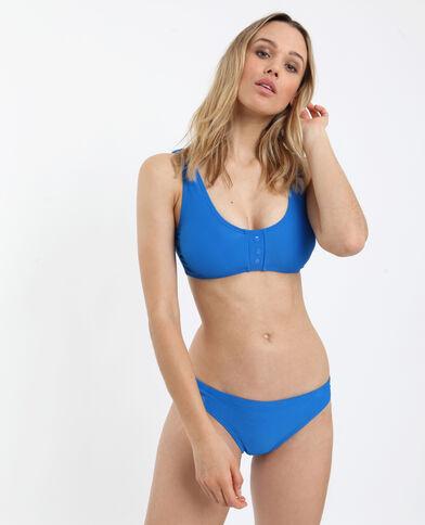 Pezzo sopra di bikini goffrato blu