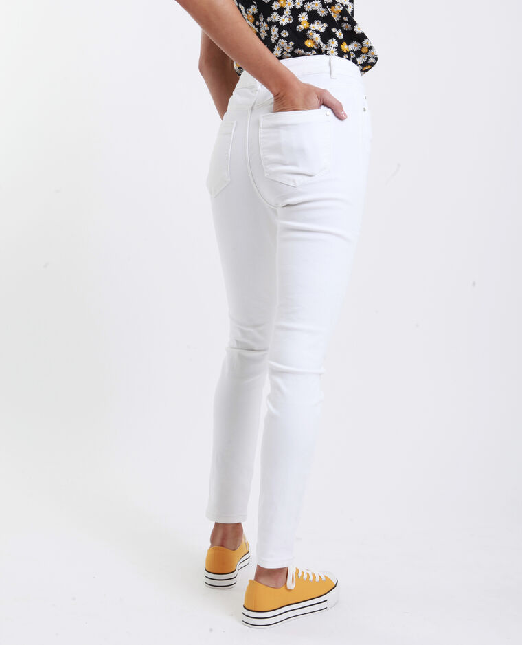 Jeans skinny mid waist bianco