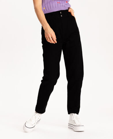 Jeans paperbag nero - Pimkie