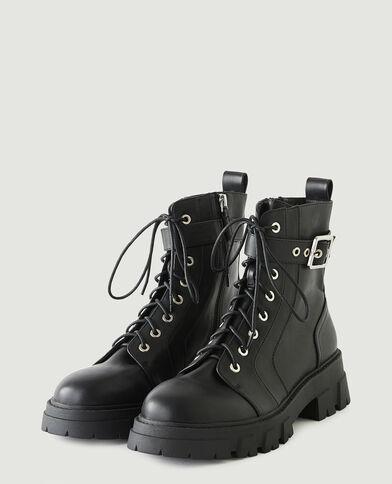 Stivali in similpelle nero - Pimkie