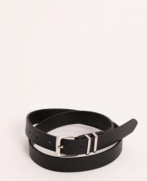 Cintura in finta pelle effetto granulato nero