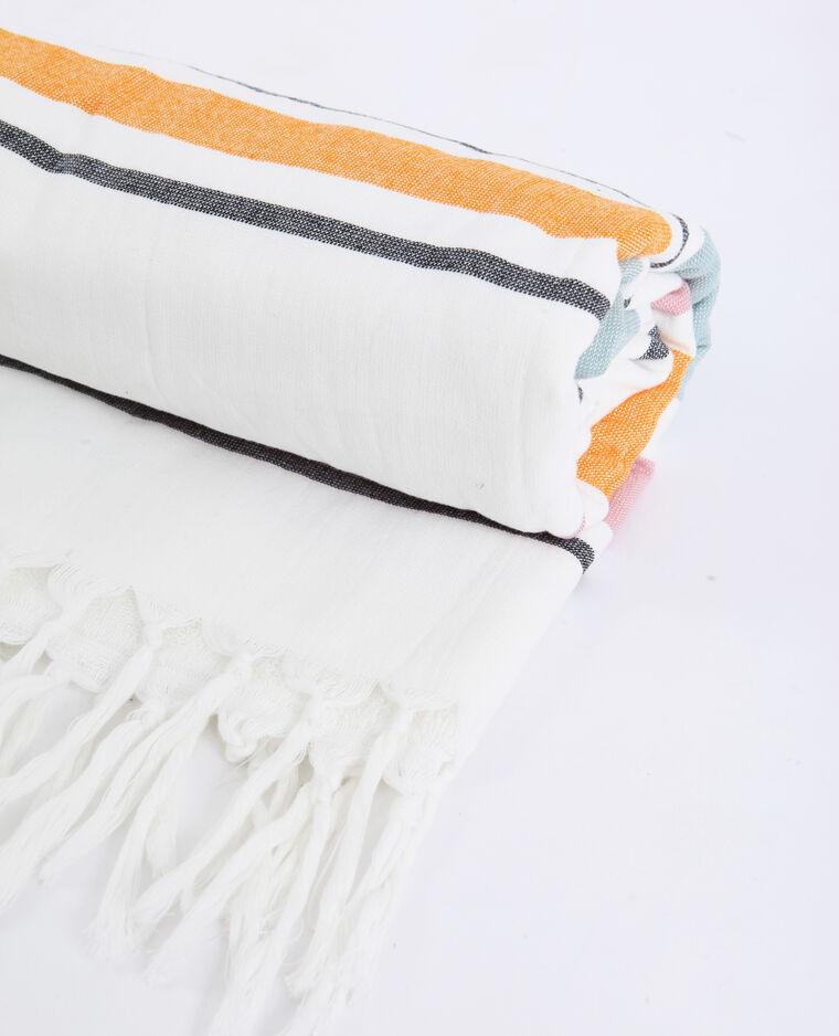 Asciugamano da mare a righe arancio