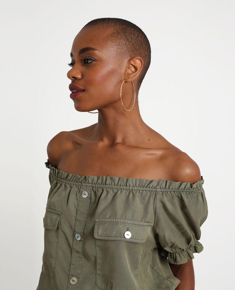 Camicia corta verde