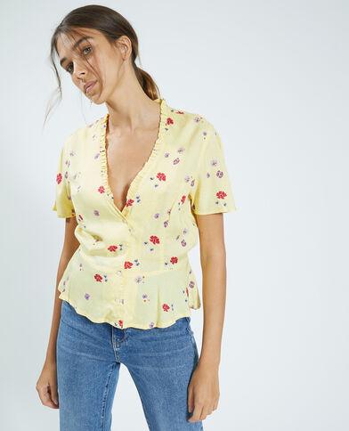 Camicia con volant giallo - Pimkie