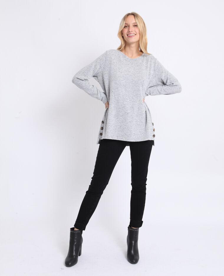 T-shirt morbida grigio chiné