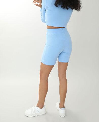Pantaloncini corti in stile ciclista morbidissimo blu