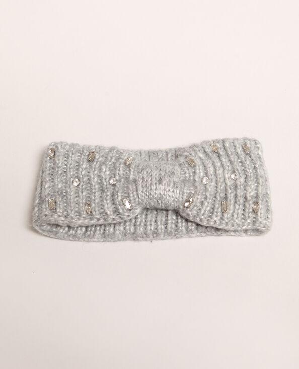 Headband con strass grigio