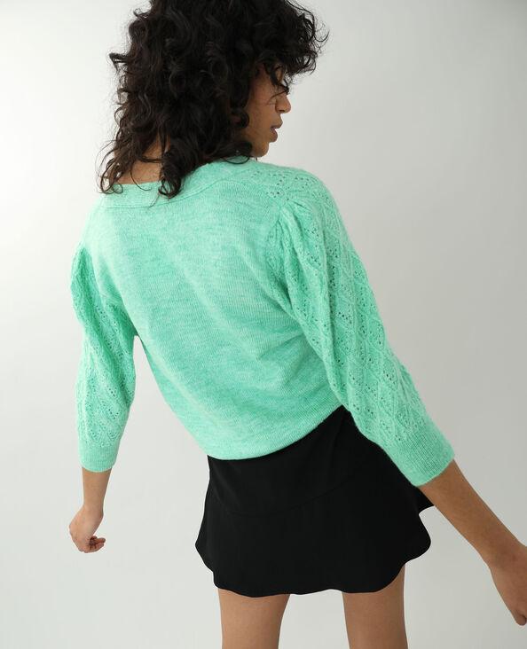 Cardigan in maglia fantasia verde acqua - Pimkie