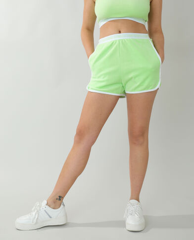 Short in velluto verde - Pimkie