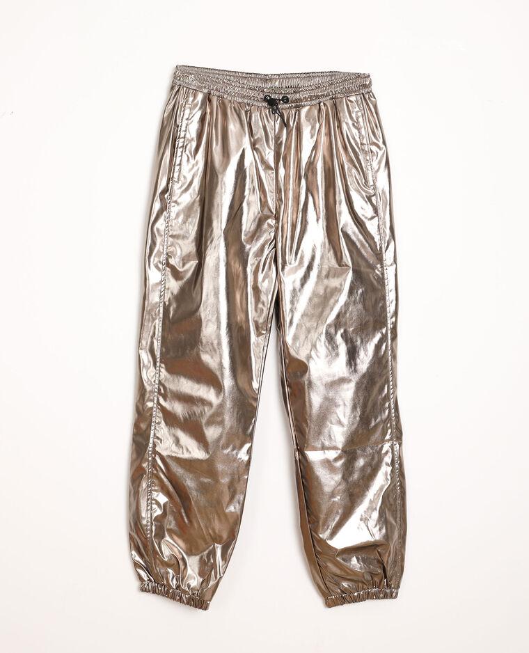Pantalone da jogging lucido grigio