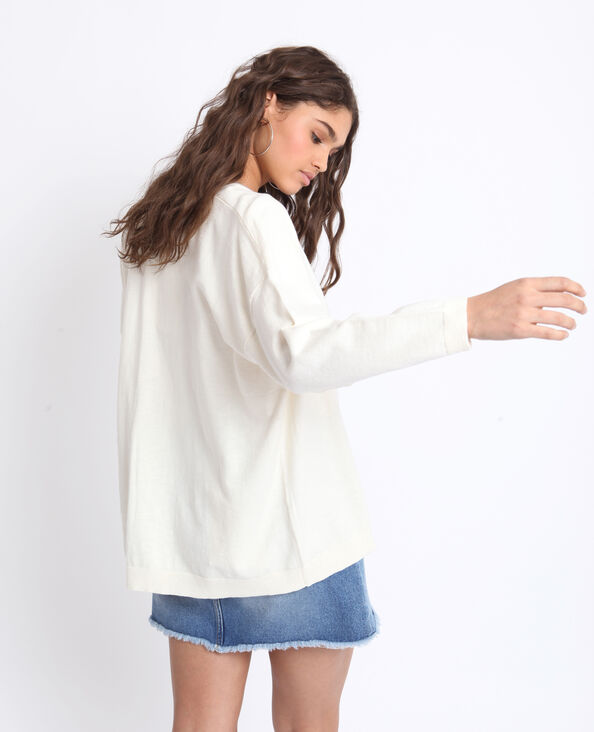Cardigan ampio bianco