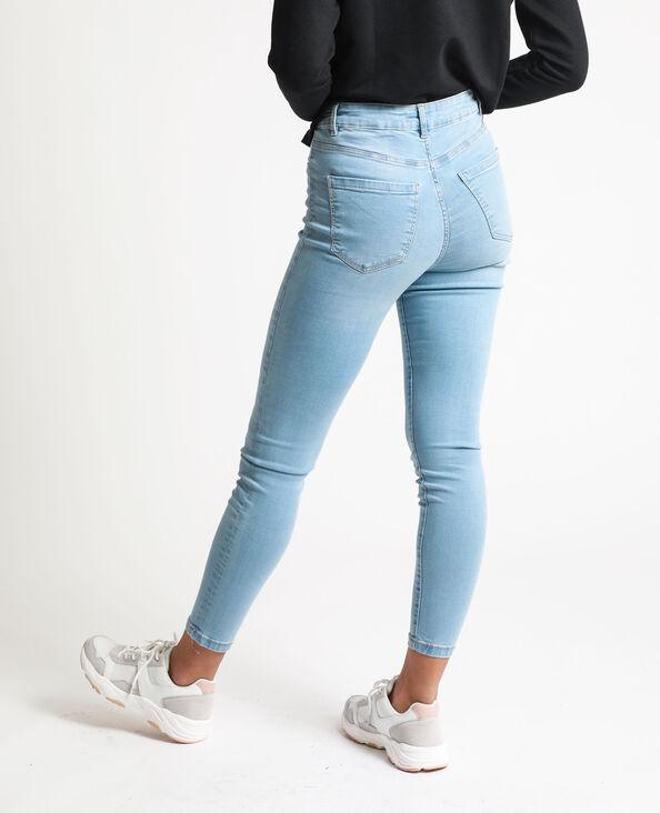 Jeans skinny a vita alta blu delavato