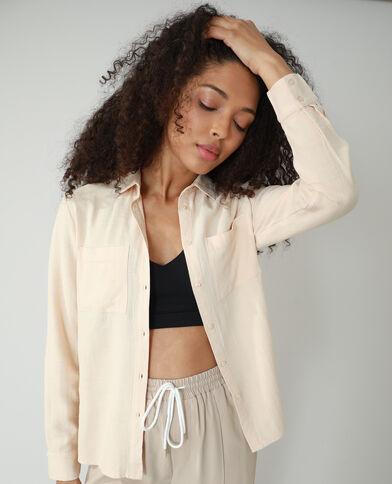 Camicia oversize asimmetrica beige - Pimkie