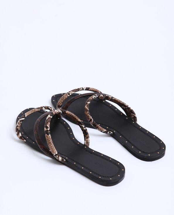 Sandali bassi pitone nero