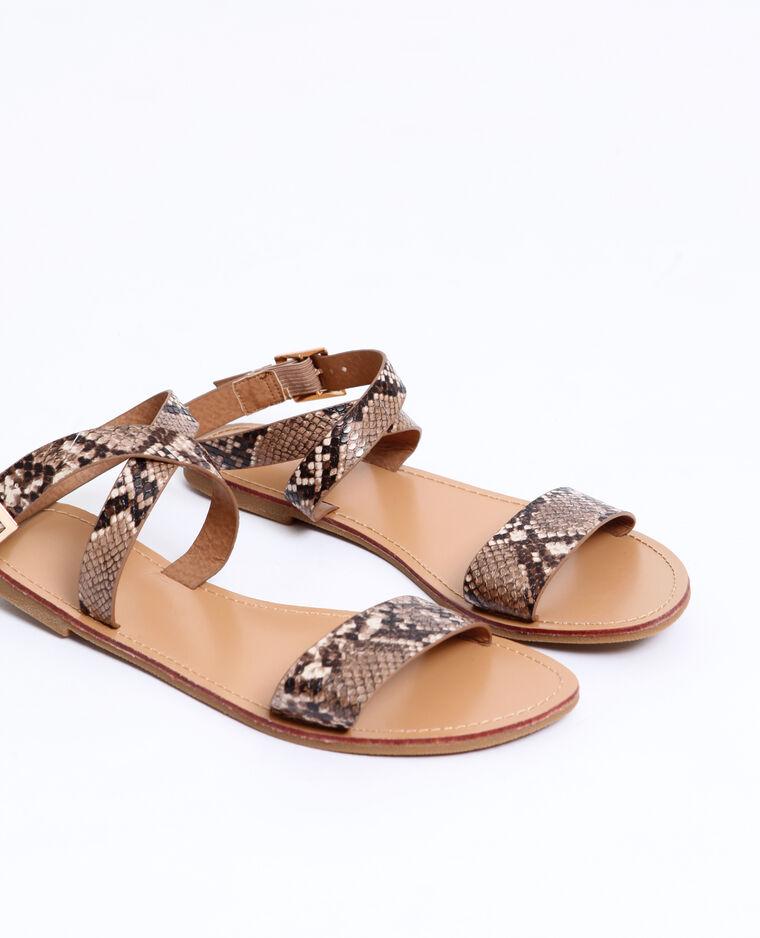 Sandali bassi beige corda