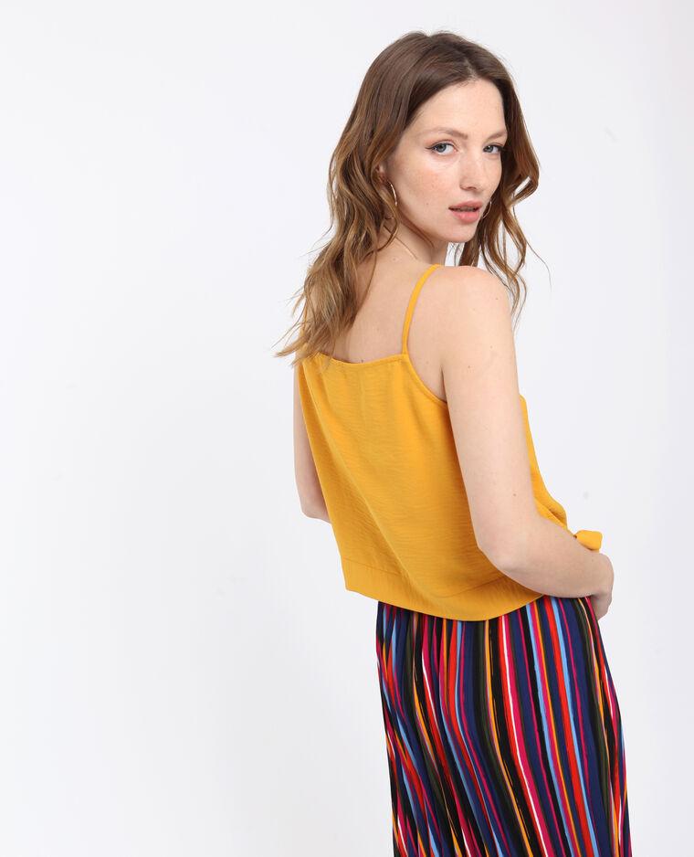 Top corto giallo