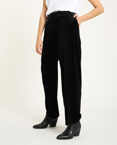 Pantalone in velluto nero