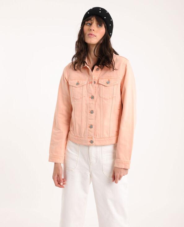 Giacca di jeans rosa cipria