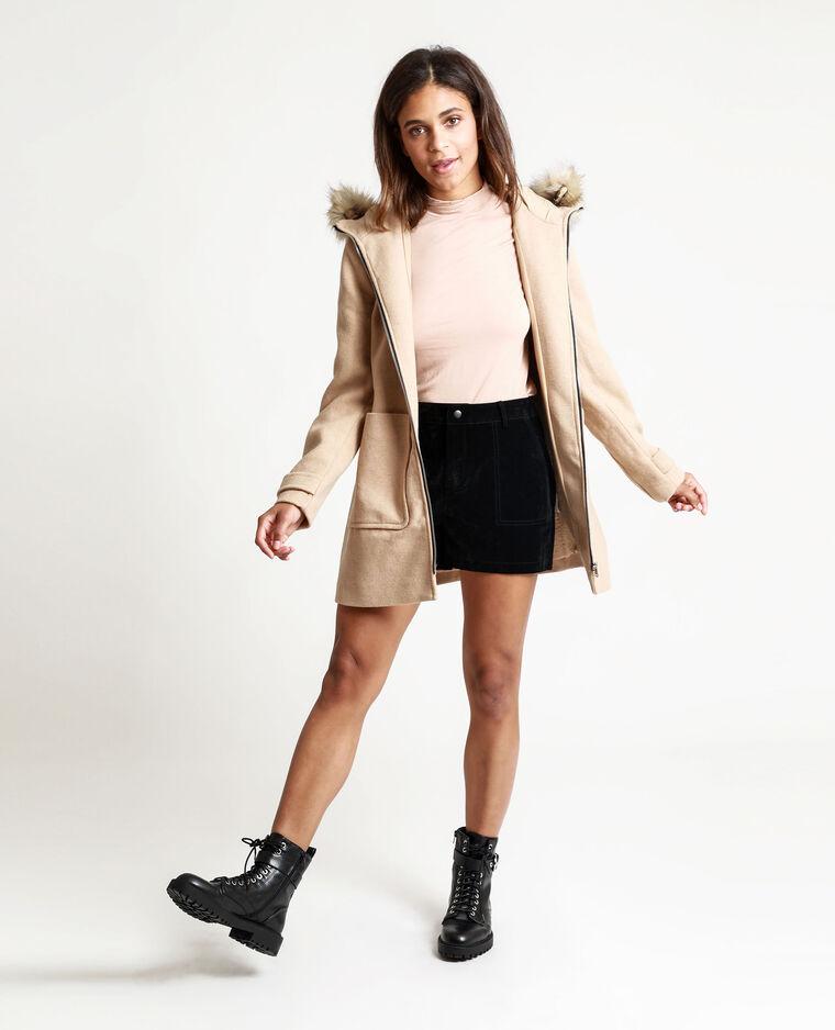 Cappotto con cappuccio cammello - Pimkie