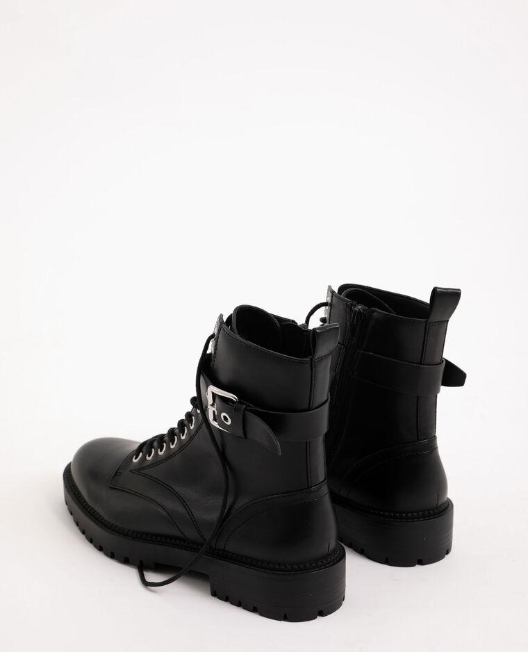 Boots in finta pelle nero - Pimkie