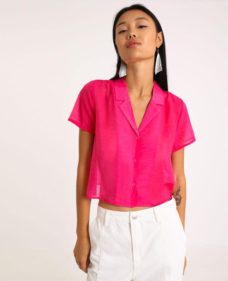 Camicia a maniche corte rosa