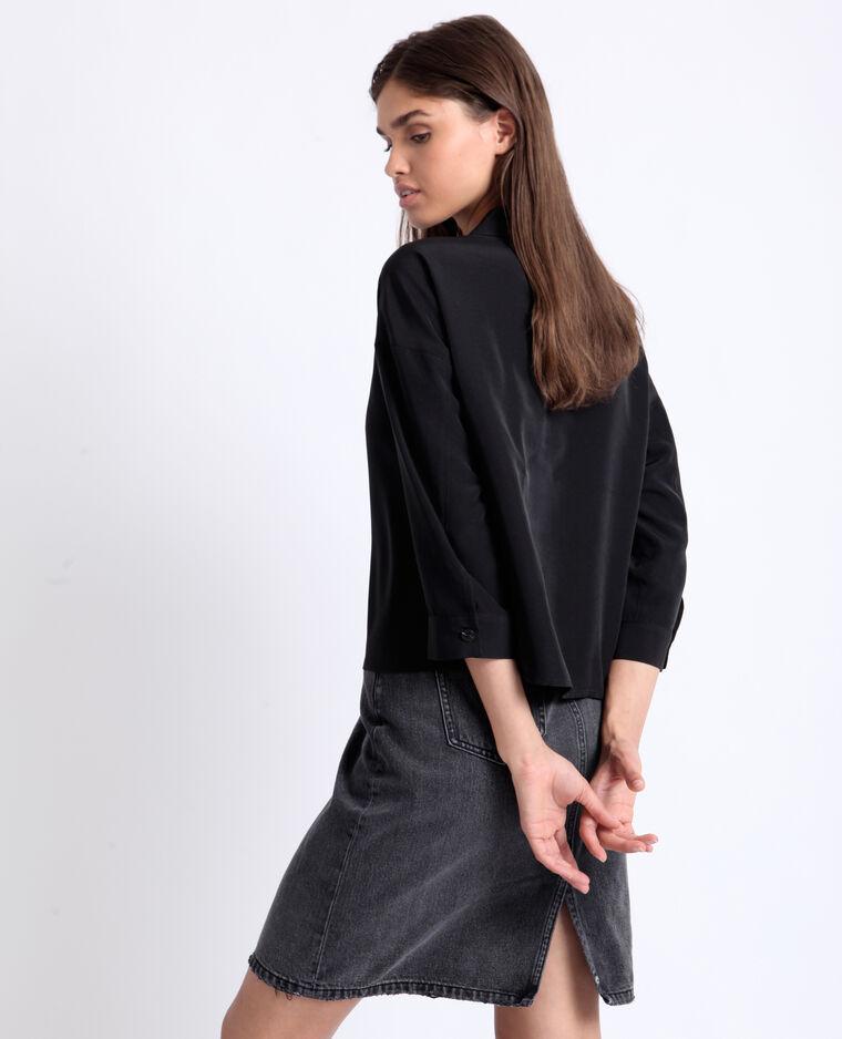 Camicia corta nero