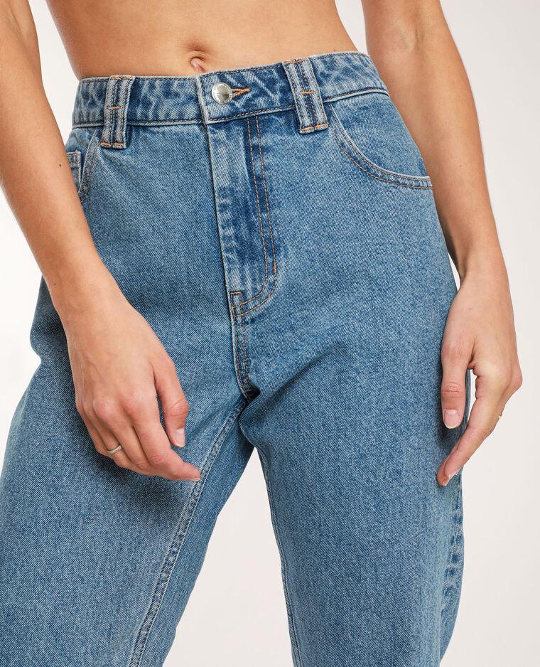 Jeans mom high waist blu denim