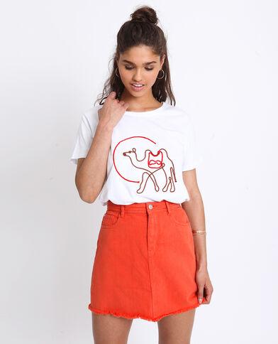 T-shirt ricamata bianco