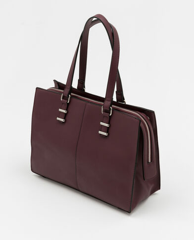 Borsa shopping rigida bordeaux