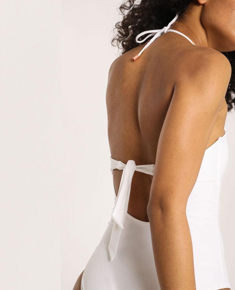 Costume intero bustier bianco - Pimkie