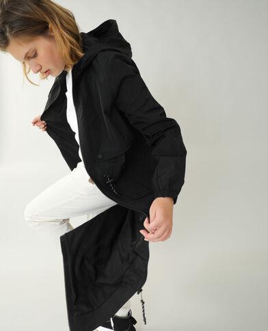 Cappotto lungo antivento nero
