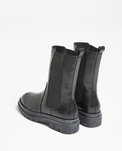 Stivali in finta pelle nero