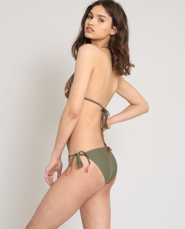 Pezzo sopra di bikini a triangolo kaki