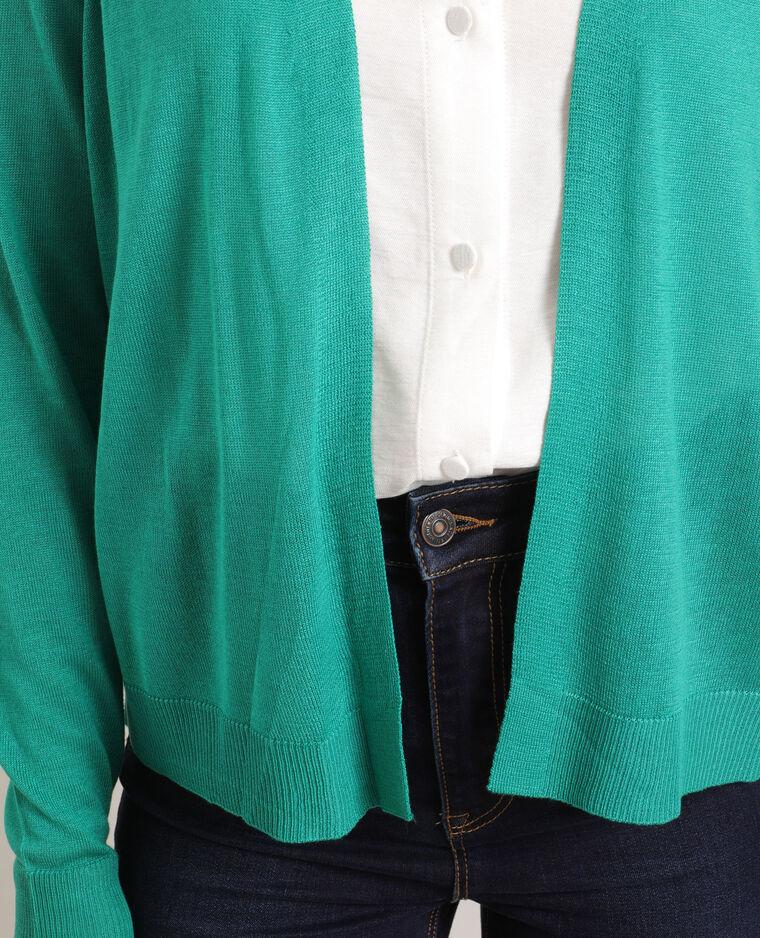 Cardigan sottile verde