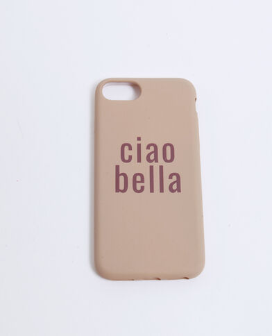 Custodia compatibile iPhone Ciao Bella bruno