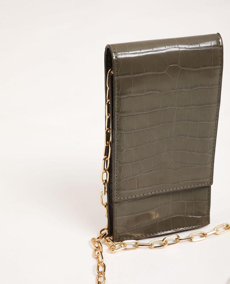 Pochette per smartphone con tracolla kaki - Pimkie