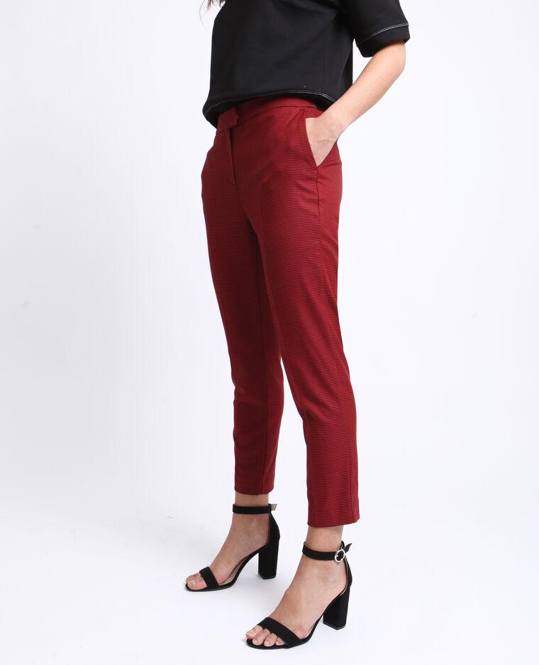 Pantalone city stampato rosso