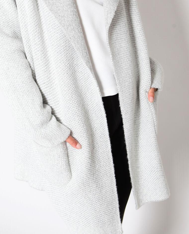 Cardigan spesso grigio chiné