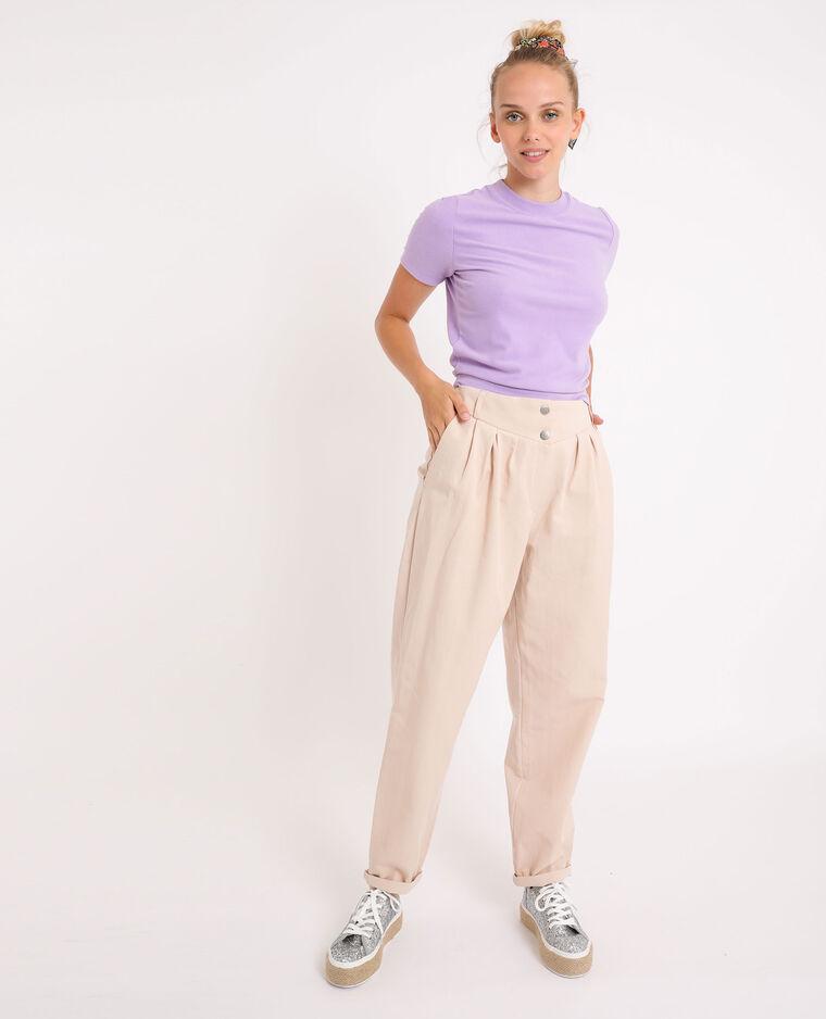 Pantalone slouchy beige