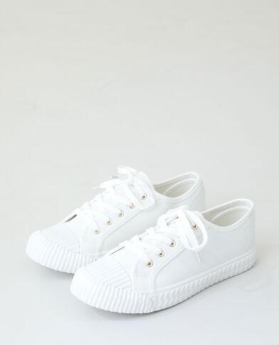 Scarpe da ginnastica con lacci bianco sporco - Pimkie