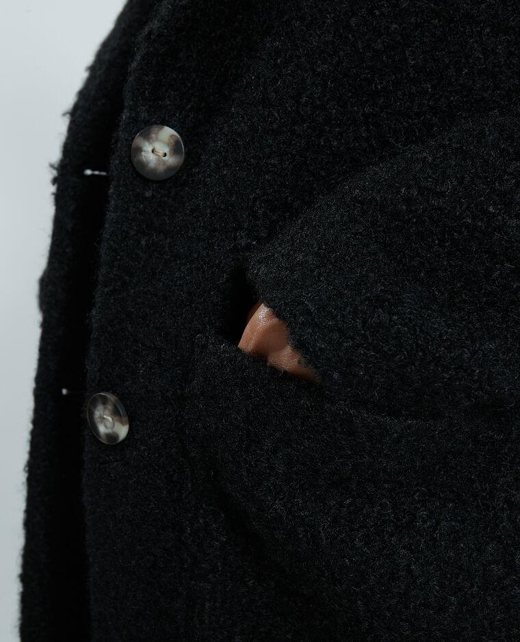 Soprabito effetto bouclé nero - Pimkie