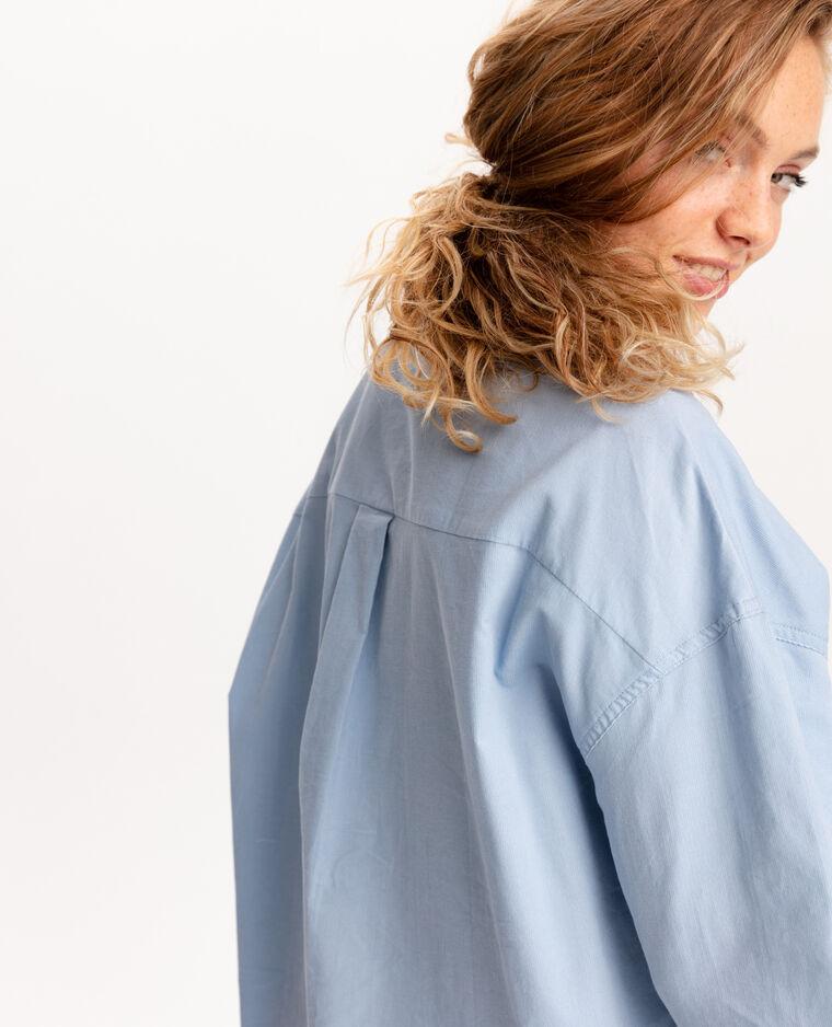 Camicia in velluto blu