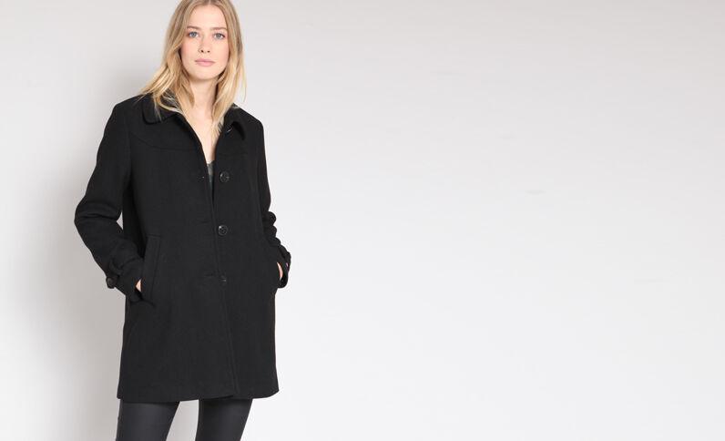 Cappotto di media lunghezza. nero